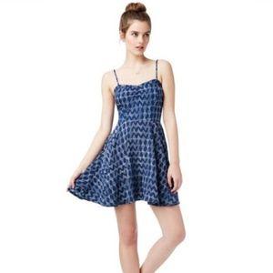 Aeropostale Blue Geo Print Dress - Size XL